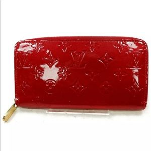 Louis Vuitton Red Zippy Wallet